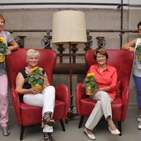 Neue Patinnen, die beim letzten Sommerfest in der LernBar auf dem FamilienCampus LAUSITZ begrüßt wurden - Gabriele Berner, Sylvia Weinhold, Gerhild Doms und Martina Conrad (v.l.n.r.). Foto: Peggy Wendt
