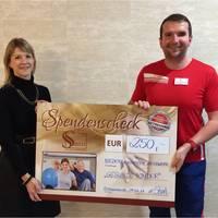 Spendenübergabe Sano Gesundheitsstudio Schwarzheide